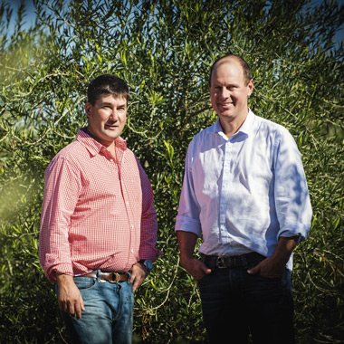 Cobram Estate founders, Paul Riordan  and Rob McGavin