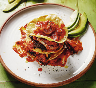 Rick Stein's sardines in tortillas with spicy tomato sauce
