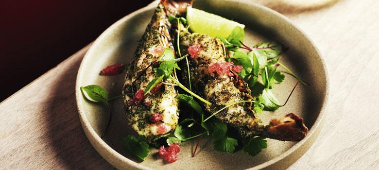 Mark Olive's grilled lobster tails