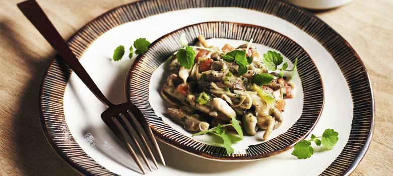 Mark Olive's mixed mushroom ragout with polenta