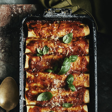 Silvia Colloca's rainbow chard and ricotta cannelloni