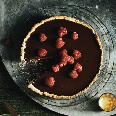 Silvia Colloca's Espresso, Chocolate and Raspberry Tart