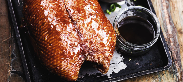 Heston's honey and tamari-glazed roast duck