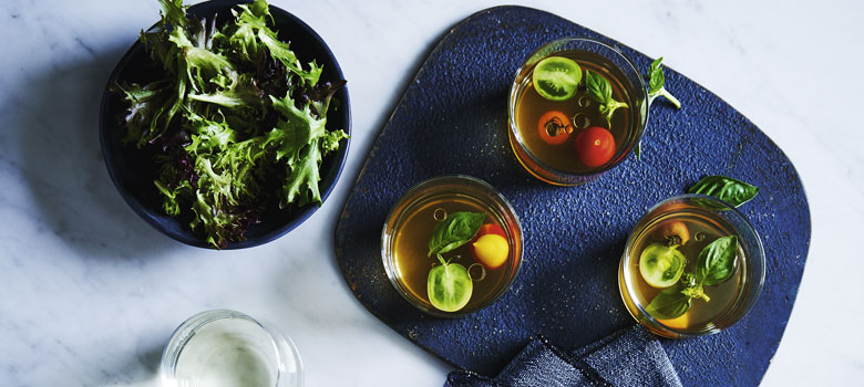 Lyndey Milan's tomato consommé